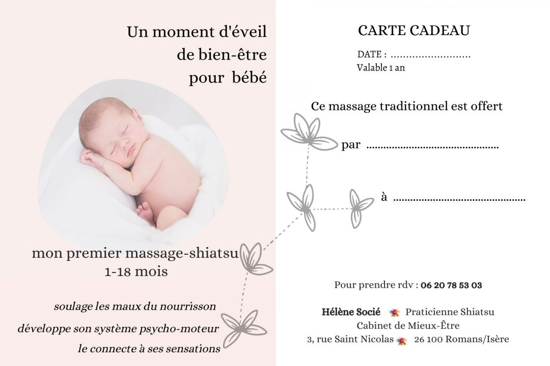 Bon pour massage bébé