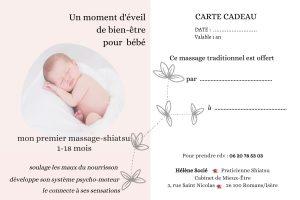 Bon pour massage d'éveil et bien-être pour bébé